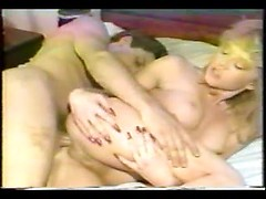 Lovely amateur cougar gets ass fucked and creampied in vintage porn