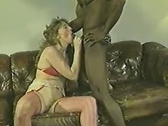 Great wife fucking videos presenting mature bitch blowing big black cock
