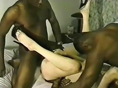 Hot wife fuck tube presents my wife double fucked with black cocks