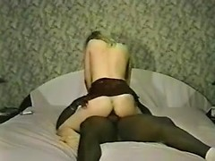 Adorable white wife enjoys big black cock in her pussy and ass for cuckold porn