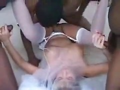 Horny amateur wife fucked with black dicks in threesome mature sex